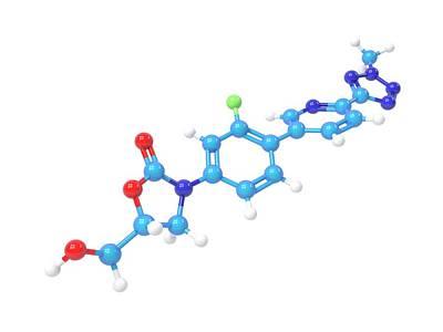 Tedizolid Antibiotic Molecule Poster