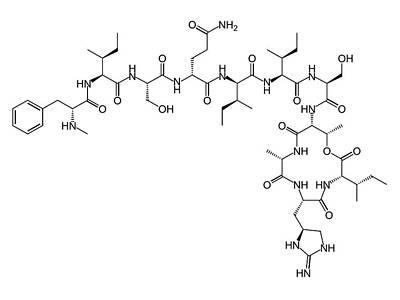 Teixobactin Antibiotic Structure Formulae Poster