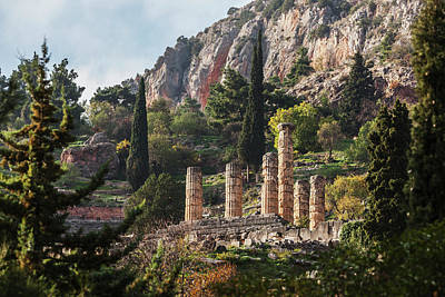 Temple Of Apollo  Delphi, Greece Poster by Reynold Mainse