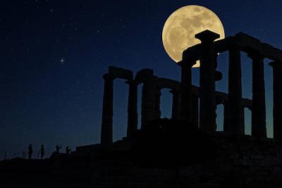 Temple Of Poseidon  Poster by Emmanuel Panagiotakis