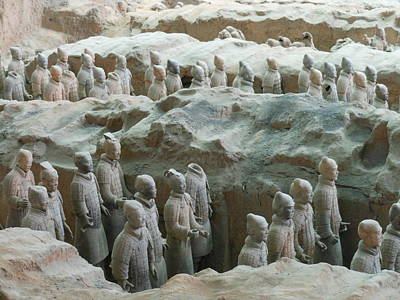 Poster featuring the photograph Terracotta Army by Kay Gilley