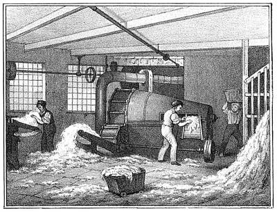 Textile Mill Cotton Poster
