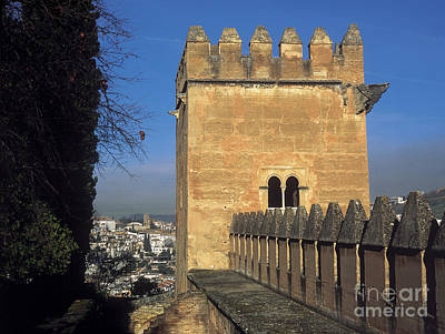 The Alhambra Tower Of The Picos Poster by Guido Montanes Castillo