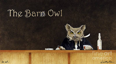 The Bar Owl... Poster by Will Bullas