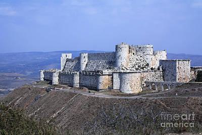 The Crusader Castle Krak Des Chevaliers Syria Poster by Robert Preston