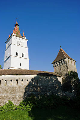 The German Fortified Church Of Harman Poster