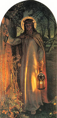 The Light Of The World Poster by William Holman Hunt