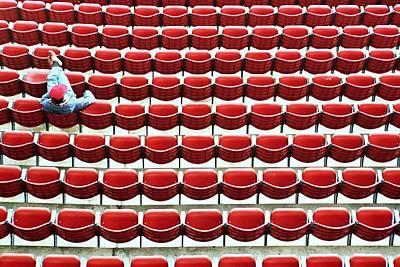 The Lone Fan Poster by Allen Beatty