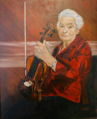 Poster featuring the painting The Violin by Sharon Schultz