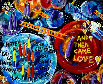 Poster featuring the painting Then Came Love by Jackie Carpenter