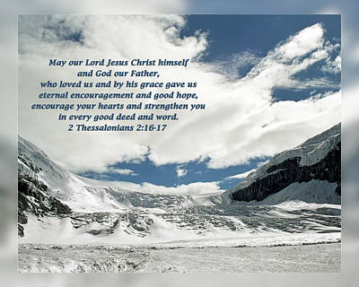 2 Thessalonians 2 16-17 Poster by Dawn Currie
