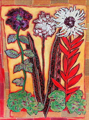 Three Flowers Poster by Diane Fine