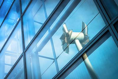 Tilted Windmills Sculpture Poster by Dan Dunkley