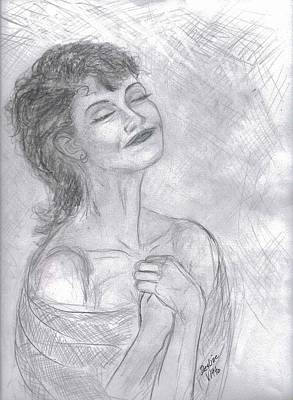 Poster featuring the drawing To Hope by Desline Vitto