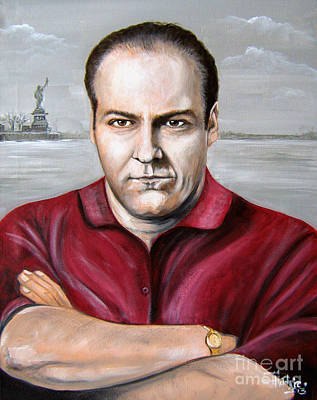 Poster featuring the painting Tony Soprano by Patrice Torrillo