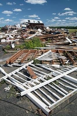 Tornado Damage Poster by Jim West