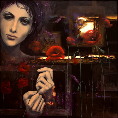 Touching The Ephemeral Poster by Dorina  Costras