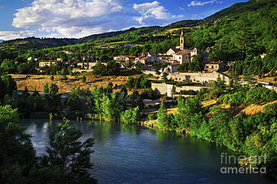 Town Of Sisteron In Provence Poster