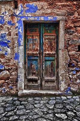 Traditional Door.. Poster by Emmanouil Klimis