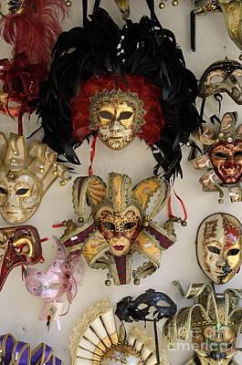 Traditional Venetian Masks Poster by Sami Sarkis