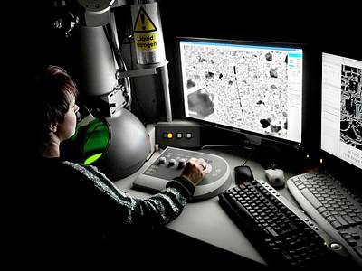 Transmission Electron Microscopy Poster by Crown Copyright/health & Safety Laboratory Science Photo Library