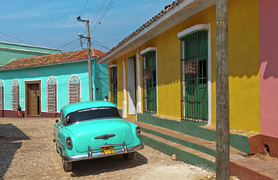 Trinidad, Cuba, With Blue Classic 1950s Poster