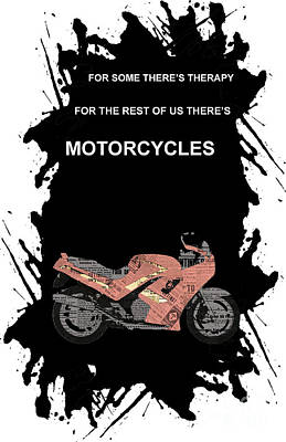 Triumph Daytona 1000 1992 Collage - Motorcycles Quote Poster by Pablo Franchi