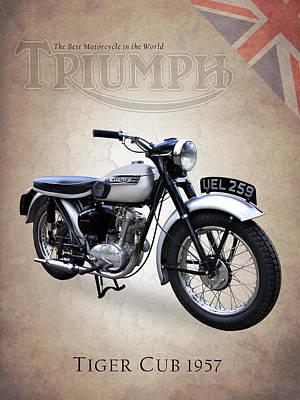Triumph Tiger Cub Poster by Mark Rogan