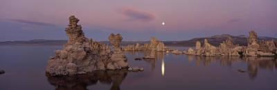 Tufa Formations In A Lake, Mono Lake Poster