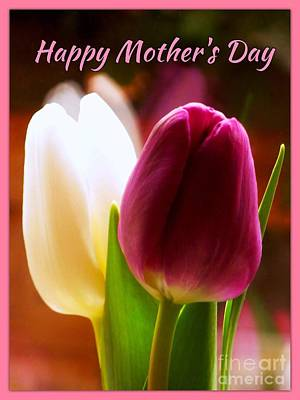2 Tulips For Mother's Day Poster