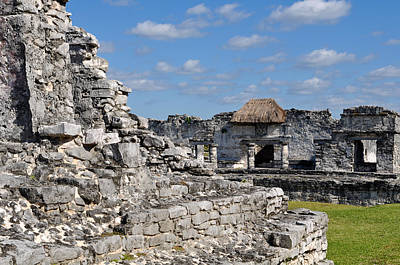 Tulum Mayan Ruins In Mexico Poster by Brandon Bourdages