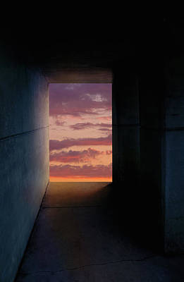 Tunnel With Light Poster