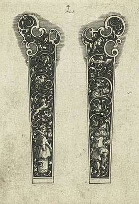 Two Knife Handles, Michiel Le Blon Poster