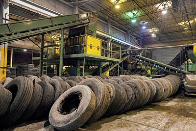 Tyre Recycling Facility Poster by Jim West