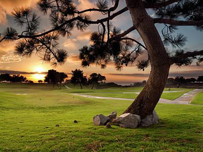 Usa, California, La Jolla, Sunset Poster by Ann Collins