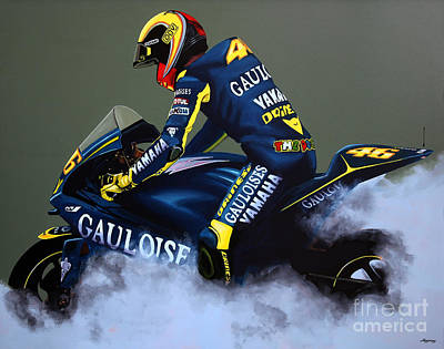 Valentino Rossi Poster by Paul Meijering