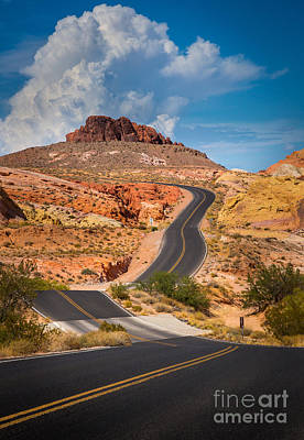 Valley Of Fire Poster by Inge Johnsson
