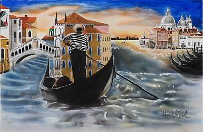 Venice Passing By Poster by Shawn Morrel