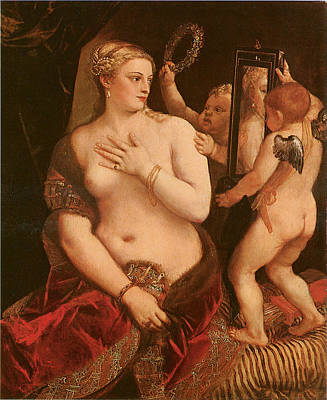 Venus With A Mirror Poster by Titian