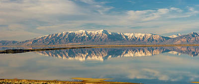 View From Antelope Island Causeway Poster