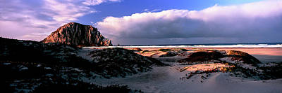 View Of Sand Dunes And The Morro Rock Poster