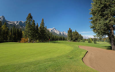 View Of The Canmore Golf Course, Mount Poster