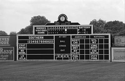 Vintage Baseball Scoreboard Poster by Frank Romeo