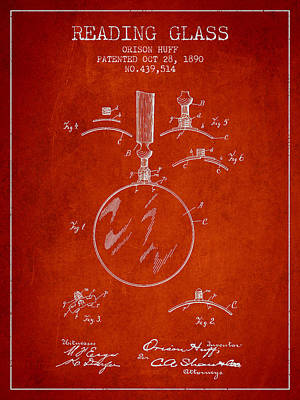 Vintage Reading Glass Patent From 1890 Poster by Aged Pixel
