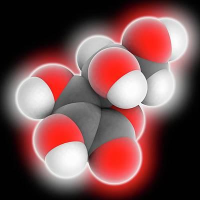 Vitamin C Ascorbic Acid Molecule Poster