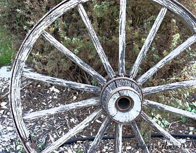 Wagon Wheel Study 2 Poster by Sylvia Thornton