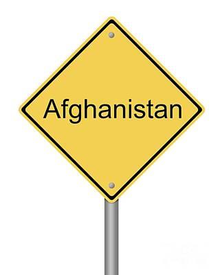Warning Sign War Poster