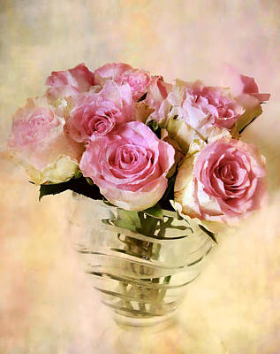Watercolor Roses Poster by Jessica Jenney