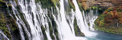 Waterfall In A Forest, Burney Falls Poster