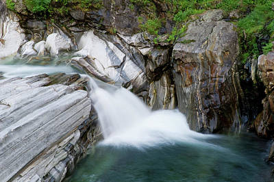 Waterfall, Lavertezzo, Valle Verzasca Poster